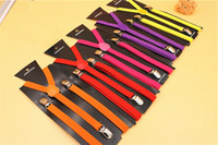 15 Colors 0. 6 Inch Clip- on Suspenders Elastic Y- Shape Adjust...