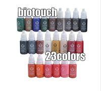 Wholesale-23pcs حبر الوشم مجموعة أصباغ ماكياج دائم 15ML حبر الوشم لون التجميل لشفة الحاجب كحل