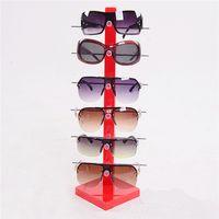 Wholesale-2016 neue hohe Qualität 6pc Sonnenbrille Ausstellungsstand Mode Acryl Glassess Rahmen Rack Halter Brillen zeigen Ständer Halter