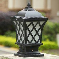 LED 야외 포스트는 청동 골동품 검은 리딩 벽 빛 방수 야외 게시물 빛 도어 상단 벽 포스트 LED 램프 기둥 램프를 점등