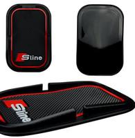 Anti-Slip Mat Mobiltelefon S Linje Pad för Audi A1 A3 A4 A6 A8 A7 Q3 Q5 Q7 RS3 RS5 RS7 Bil Tillbehör