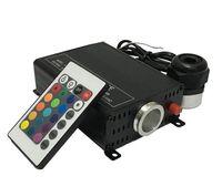 2016新しい16W RGBW光ファイバー照明24キーRFロゴートコントローラ光発生器光ファイバーライトエンジン