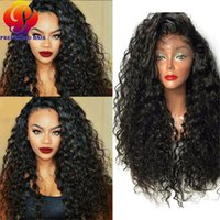 Synthetic Lace Front Wigs For Black Women Long Curly Lace Fr...