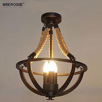 خمر حبل الإبداعية الثريا الإضاءة الأمريكية معدن حبل مصباح بريقا ل فندق مطعم غرفة المعيشة مضمون 100٪