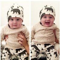 21 Стиль Очаровательны Детские Шляпы Хлопковые Шляпы Дети Симпатичные Моды Мультфильм Шапки INS INS Fox Bearies Panda Tiger Hats Зимние Напечатанные Baby Caps K7145