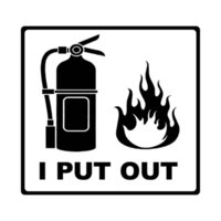 I PUT OUT FIRES FIREFIGHTER CUT VINYL DECAL STICKER