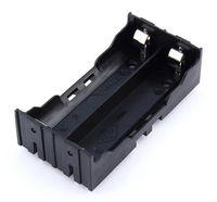 Hoogwaardige plastic diy lithium batterij batterij houder met pin geschikt voor 2 * 18650 (3.7V-7.4V) lithium batterijhouder