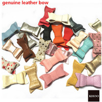 Leather Bows 2. 5 inches - Leather Hair Accessories, matching ...
