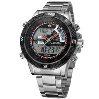 Alta qualità! 2021 Nuovo Forsining Men's Watch Vogue Chronograph Allarme Funzione LED Display Auto Date Auto Data online Sport Orologio da polso Colore nero