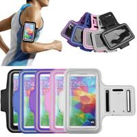 調節可能なランニングスポーツジムバッグケースアームバンド用サムスンギャラクシーS5 S7エッジiPhone 5 6プラス6S LG防水ジョギング携帯電話カバー