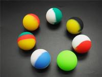 100 teile / los kleine kugel sdesign nicht stick ball silikon konzentrat container bho silicoon lagergefäß