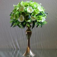 꽃병 장식 아이디어 / 센터 피스 웨딩 / 골드 꽃병 중앙 장식을위한 30cm 높이의 꽃병