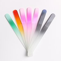 13 cm Durable Medio Crystal Glass Nail Files Sanding Buffer Manicure Pedicure Art Decoraciones Nail Tool colores surtidos al por mayor