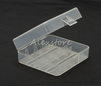 50 stks Draagbare Plastic Batterij Case Doos Veiligheid Houder Opslagcontainer 5 Kleuren Pack-batterijen voor 2 * 26650 of 3 * 18650 Lithium-ionbatterij