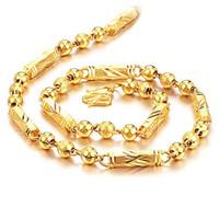 Collier en or jaune 24 carats, livraison gratuite, direct usine, longueur: 55 cm, poids: 45 g