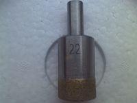 Broca do núcleo do diamante broca de vidro broca sinterizado pouco para a haste reta de vidro navio livre 18mm-34mm