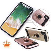 for iPhone 8 Samsung note 8 Ring Holder Phone Case Magnetic ...