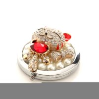 2014 new arrive pearl diamond Lucky Cat Handmade DIY makeup ...