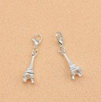 100st Silver Eiffeltornet charms hängsmycken med hummerlås smycken DIY smycken fynd hantverk charm smycken gör