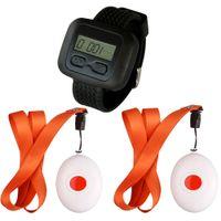 SINGCALL Wireless Nursing Calling System für alte, behinderte Menschen, für Krankenhäuser, 1 Wachempfänger und 2 Glocken