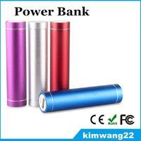 Caricabatteria da 2600mAh quadrato colorato Power Bank Powerbank portatile da esterno di emergenza per telefoni cellulari Samsung S7 IPhone 6s