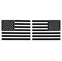 1 par de 6 pulgadas de la bandera americana etiqueta engomada del coche Negro espejo inverso del coche del vinilo Adhesivos el 15.5CM * 10.5CM