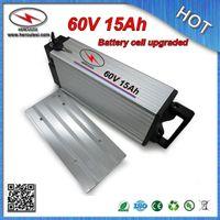 Wysokiej jakości 1800W 60 V Ebike Akumulator 60V 15AH bateria litowa z BMSUNG 18650 Cell Aluminium Case + Darmowa ładowarka