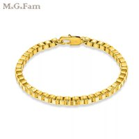 (250B) MGFam (20cm*4 mm) Boxes Bracelet Jewelry For Men Stam...