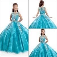 Girls pageant robes magnifiques bijoux cristal perles de billes robe de balle Rachel Allan Filles Pageant robes de guiche de fleur fille