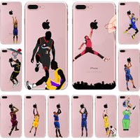 Jogadores bola de basquete tpu pintura celular case para apple iphone 5s 6 s 7 plus case ultra fino pc macio de volta silicone tampa do telefone shell