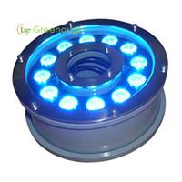 Luz da fonte do diodo emissor de luz de DC24V luzes do jardim de 12x3W Iluminação subaquática da piscina do RGB Luz de aço inoxidável do diodo emissor de luz na lâmpada à terra