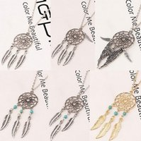 Dream Catcher Statement Necklaces Dreamcatcher Antique Silve...