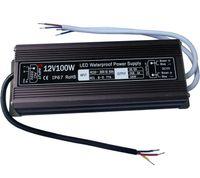 Alta calidad DC12V 100W IP67 Impermeable LED Fuente de alimentación AC100-240V Entrada Electronic LED Driver Transformer para tiras de luz LED