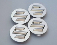 4 unids / lote Car Styling 54 mm ABS Suzuki Car Badge Centre Hub Cap Wheel Emblem Badge Cubiertas para SWIFT Sport SX4 Alto