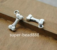 Free Ship 200pcs Antique Silver Bone Charms pendant Bracelet...