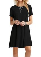 All'ingrosso-Ucraina Fashion Sexy A-Line Solid Black Summer Dress Donna Mini Boho Partybeach Abiti Donna Abiti 2017 Plus Size