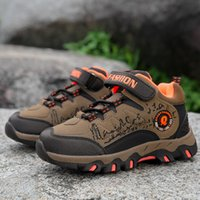2017 Autumn Winter Children Hiking Shoes Boys Kids Leather M...