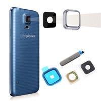 Porta di ricarica USB Plug Block Water proof Cover posteriore Fotocamera Obiettivo di vetro per Samsung Galaxy S5 I9600 G900A G900T G900V G900V G900P G900P