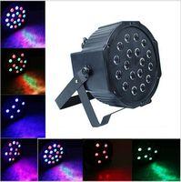 Высокая мощность 18 Вт 18Leds RGB Сценический свет профессиональный RGB Par Light DMX-512 Party DJ Disco стробоскопический лазерный проектор