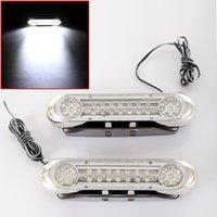 20set / LOT Universal Blanc 28 LED Feux de jour Lumière DRL voiture Jour ANTIBROUILLARD Driving Livraison gratuite