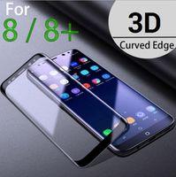 3D Kavisli Temperli Cam Tam Kapsama ekran koruyucu Için Galaxy Note 8 S8 Artı S7 Kenar S6 Kenar Artı perakende ile pacakge