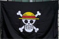 무료 배송 한 조각 밀짚 모자 해골 해골 플래그 해적 Luffy 코스프레 액세서리
