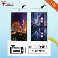 흰색 검정색 LCD 디스플레이 터치 디지타이저 iPhone 6 5 5S 100 % 용 프레임 교체 전체 화면