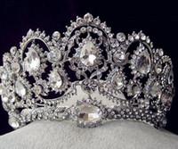 Sparkle Boncuklu Kristaller Düğün Taçlar Yeni Gelin Kristal Peçe Tiara Taç Bandı Saç Aksesuarları Parti Düğün Tiara HT133