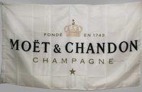 Benutzerdefinierte weiße Flagge Banner für Moet Chandon Champagner 3 x 5 ft Polyester High Quality Bar Banner