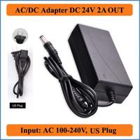 24V 2A US Plug AC DC Adapter AC 100-240V to DC 24V AC/DC Power charger Supply for Led Strips Lights CCTV Camera laptops