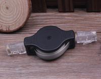 Ücretsiz kargo 1.5 m geri çekilebilir düz Ethernet kablosu, otomatik uzatma otomatik spin roll up LAN Ağ Kablosu Bilgisayar Laptop için Sync Hattı