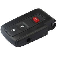 2016 новый горячий продать автомобиль смарт-ключ shell для toyota prius 3 кнопки дистанционного ключа пустой чехол брелок крышка с TOY43 лезвие