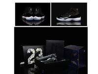 2016 11 s uzay reçel yüksek Kalite Kadınlar Basketbol Ayakkabı İndirim Spor sneakers Patent Deri Mens Basketbol Ayakkabı kutusu ile