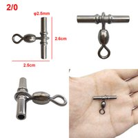 20pcs Cross Line Crane Fishing Swivel Brass Tube Black Cross...